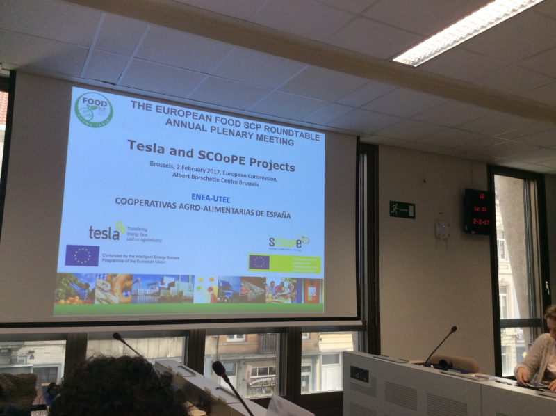 Carlo Alberto Campiotti, from ENEA, presented the SCOoPE project in the European Food SCP Roundtable